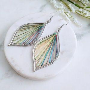 5 for $25 Multi Color String Leaf Drop Earrings